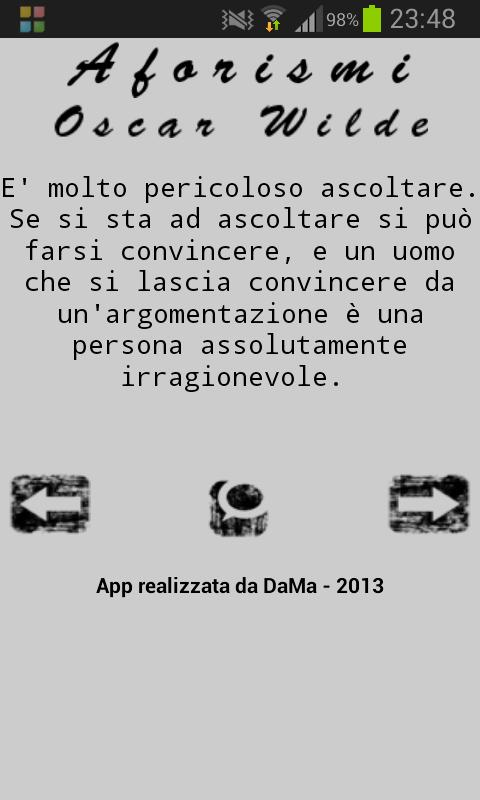 Aforismi: Oscar Wilde - screenshot