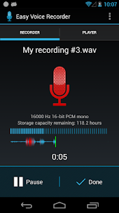 Easy Voice Recorder - screenshot thumbnail