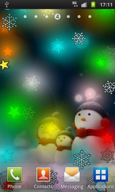 Funny Christmas LiveWallpaper - screenshot