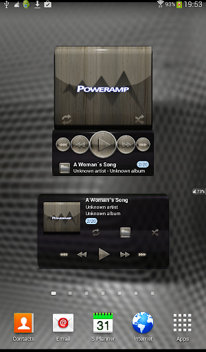 Poweramp widget WOOD PLATIN