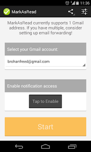 MarkAsRead for Gmail (Beta)- screenshot thumbnail