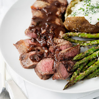 Red Wine Strip Steaks.