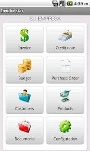 Invoice star - invoicing screenshot