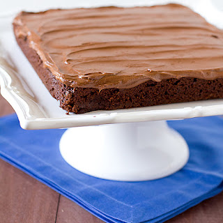 Chocolate Fudge Brownies with Chocolate Buttercream Frosting.