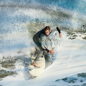 Water Colors by Dominick Darrigo - Sports & Fitness Surfing
