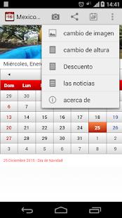 Mexico Calendario 2015 - screenshot thumbnail
