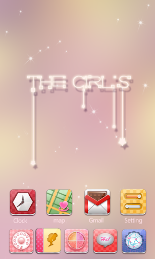 The Girls GO Launcher Theme