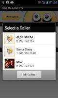 Screenshot of Fake Me A Call Pro