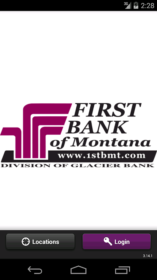 First Bank MT Mobile Banking - screenshot