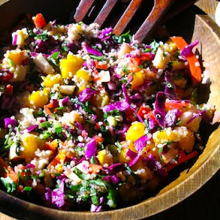 Wintery Quinoa Salad Recipe with Butternut Squash, Cabbage and Apples.