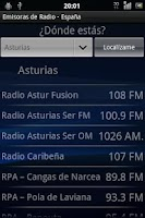 Screenshot of Emisoras de radio - España