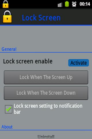 Lock Screen Use Sensor