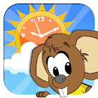 Weather and Clock for Kids icon