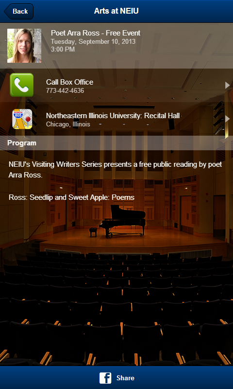 Arts at NEIU- screenshot