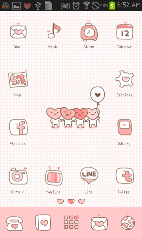 LOVE(Pink) icon theme - screenshot
