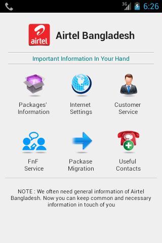 Airtel Info 3G BD
