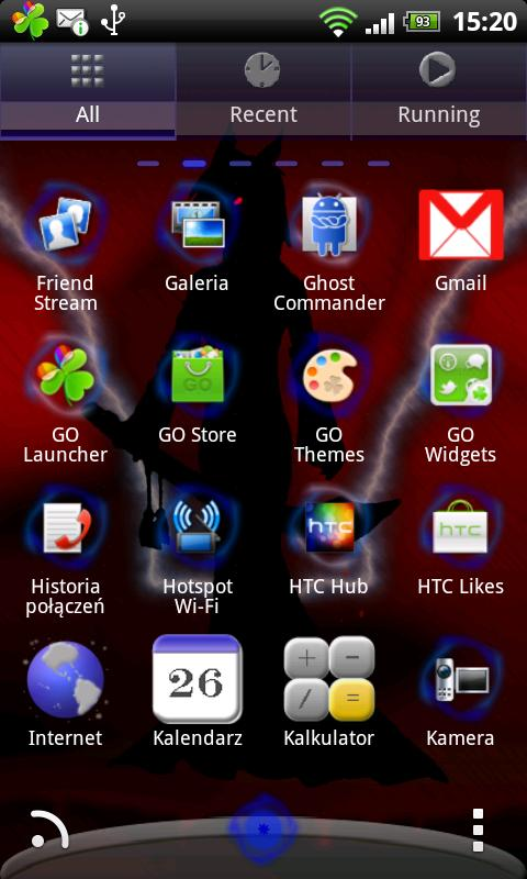Go Launcher EX Hunter Theme - screenshot