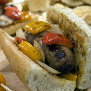 Sausage & Peppers Subs With Creamy Italian Spread