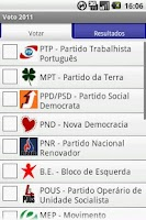 Screenshot of Voto 2011