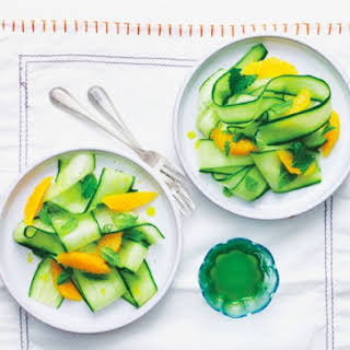 Sweet Cucumber And Orange Salad.