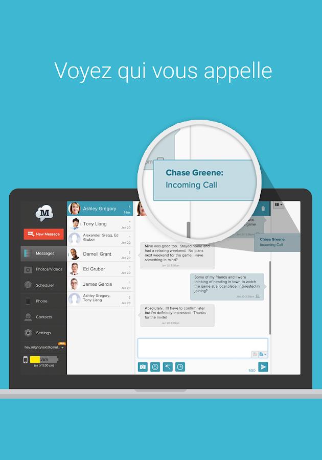 SMS Gratuit depuis votre PC– Capture d'écran