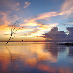 DRAMATIC SKY by Sujan Sarkar - Landscapes Waterscapes ( sky, nature, color, peace, dusk., beauty )