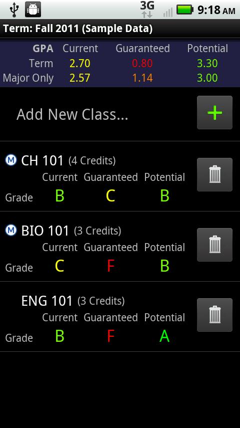 GradeWizard Lite - screenshot