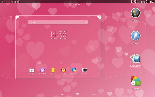Xperia™主題 - Pink Hearts