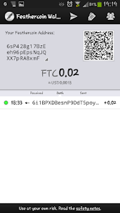 Feathercoin Wallet 2- screenshot thumbnail