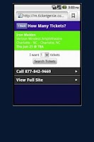 Screenshot of Les Miserables Tickets