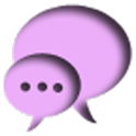 PURPLE GO SMS THEME logo