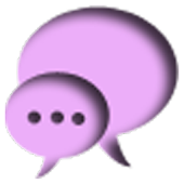 PURPLE GO SMS THEME
