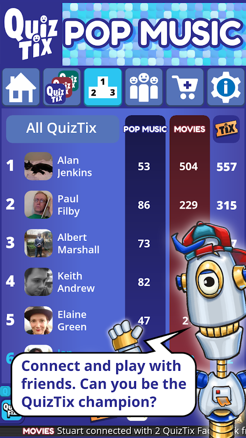 QuizTix: Pop Music Quiz Game on 80's & 90's Trivia- screenshot