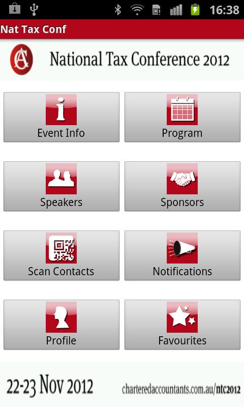 National Tax Conference App - screenshot