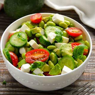 Chopped Edamame Caprese Salad.