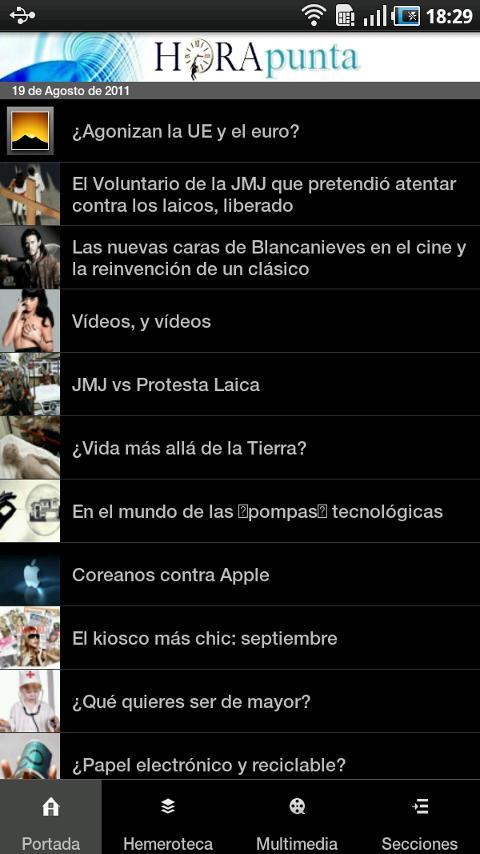 HoraPunta- screenshot