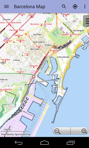 Barcelona City Map Lite