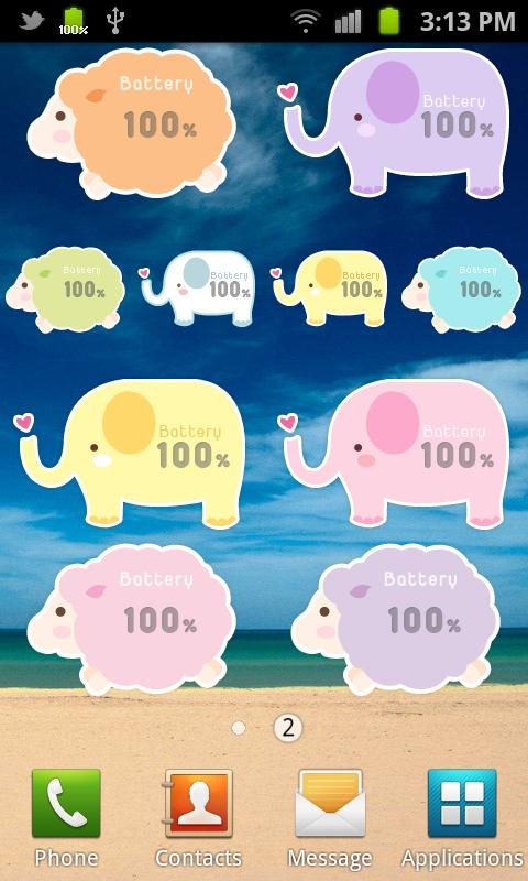 Pastel Battery Widget - screenshot