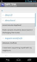 Screenshot of English Telugu Idioms