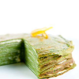 Green Tea Crêpe Cake