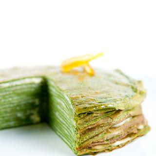 Green Tea Crêpe Cake.