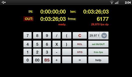 TimeCode Calculator- screenshot thumbnail