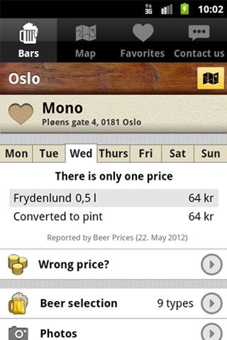 Beer Prices - screenshot