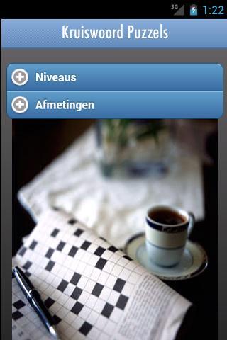 Kruiswoord- screenshot