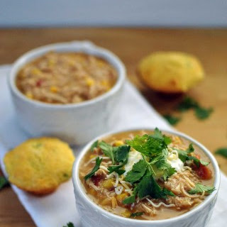 Healthy Slow Cooker White Chicken Chili.