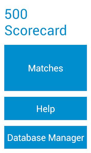 Five Hundred Scorecard
