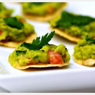 Healthy Guacamole Tostadas.