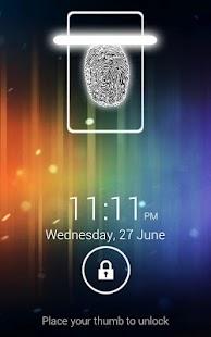 Fingerprint Screen Lock ICS - screenshot thumbnail
