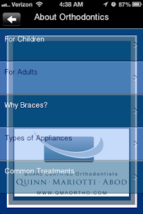 QuinnMariottiAbod Orthodontics - screenshot thumbnail