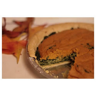 Spinach Pumpkin Swirl Quiche